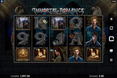 Immortal Romance Casinos online spielen